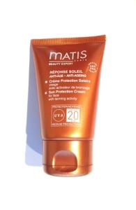Matis Réponse Soleil Anti-Âge Crème Protection Solaire UVA SPF20